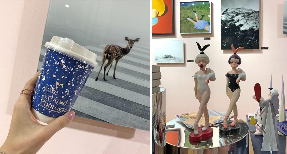 展会中竟然也有网美咖啡店啊!这家来自上海的艺廊Brownie,将单品咖啡店与艺廊结合,轻松让艺术无负担走入生活。