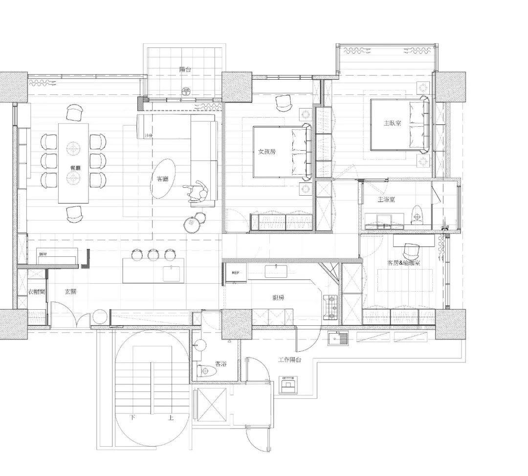 平面图提供_大雄室内设计 Snuper Design。