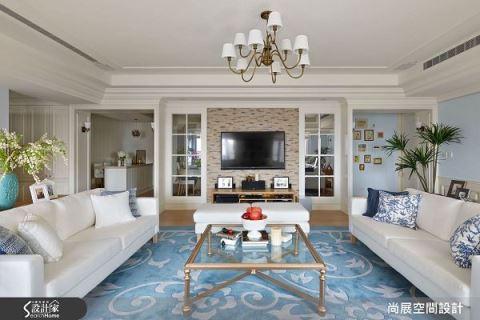 放松无压的汉普顿美式住宅设计 尚展空间设计 吴启民