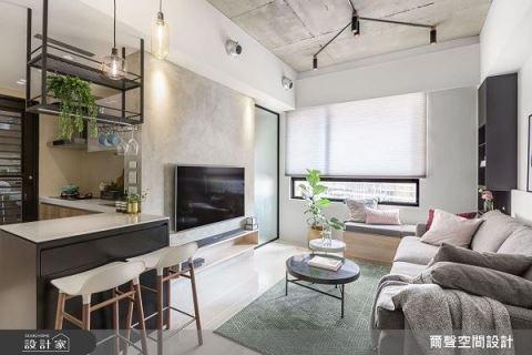 53平米小户型新婚宅,微型空间里的美好日常 尔声空间设计 陈荣声、林欣璇