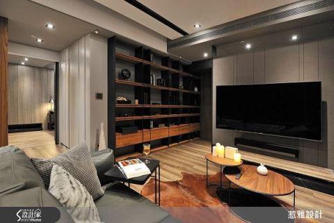 小空间放大!打造83平米时尚雅痞宅 惹雅设计有限公司 张凯