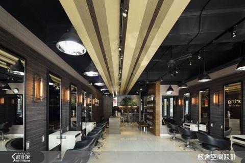 满满时尚感的工业风发廊设计 舨舍空间设计 颜善松