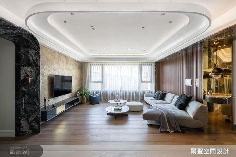 159平现代宅,用大理石玩出轻奢味 尔声设计 陈荣声