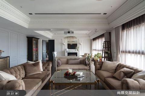 两户打开变一户 高大上美式风格宅 尚展空间设计 吴启民