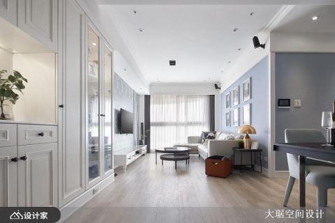 高颜值清新美式风格!莫兰迪灰蓝色诠释高级感 大琚空间设计 许有森(意竹)