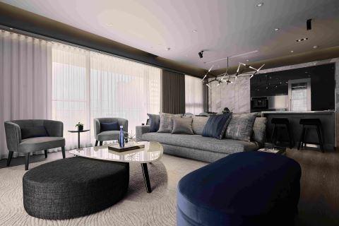 时尚先生的蓝色雅痞新家是这样设计的 L′atelier Fantasia 缤纷设计 江欣宜
