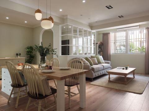 空间感大两倍 78m² 满满美式田园风 原晨室内设计 杨崇毅、刘鞠臻