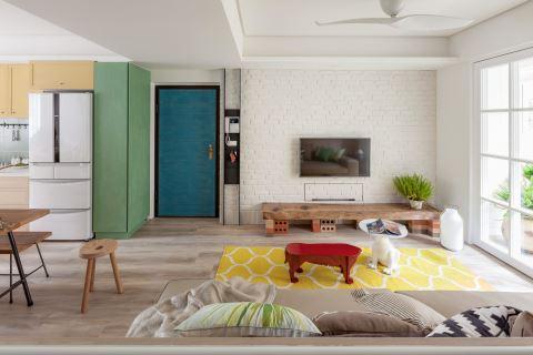 她对调客厅和餐厨的位置 老房变明亮了 FUGE 馥阁设计 黄铃芳
