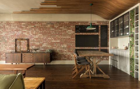 他用木材包了大梁 116 m²的新婚房有了温暖日本味 乐沐制作空间设计 陈圣元、张晏甄、黄子庭