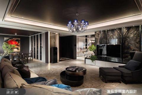 送给上海娇妻的中式山水图腾165m²的家 演拓空间室内设计 张德良