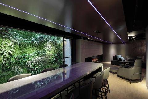 造一片绿植墙佐蓝光吧台 给好客主人的轻奢系别墅 联宽室内装修有限公司 王毓婷
