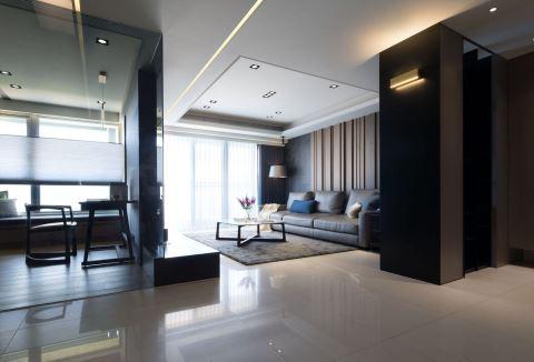 T字廊柱变身光廊 低彩度软装为4居室气质加分 双设计建筑室内总研所 颜义洋、张合群