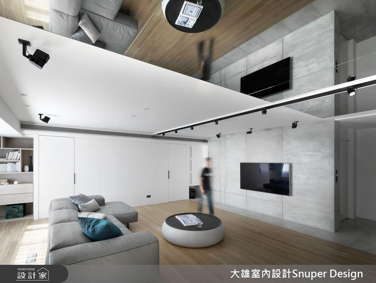 镜面的趣味翻折 让149平米现代宅掀起无限想像