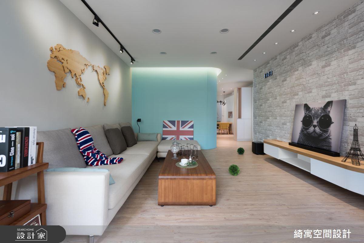 年轻夫妻的 78 平米爱家宣言!为新生儿打造水蓝色北欧宅