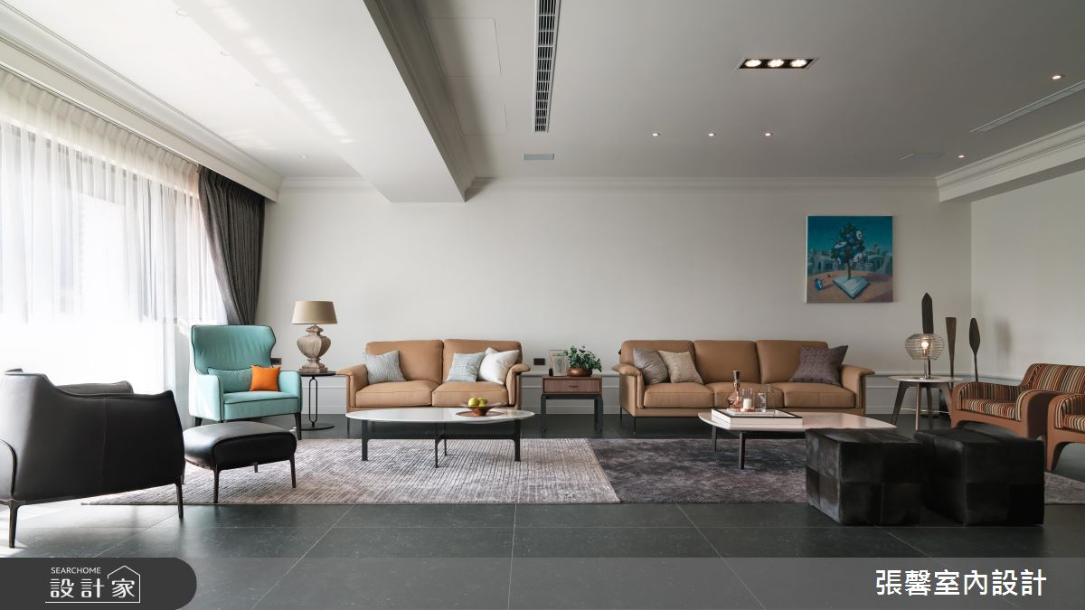 低彩度360平米毫宅!时尚黑白灰设计现代风家居