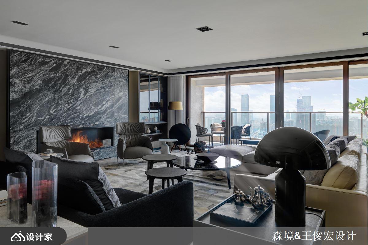 中西合璧现代风大宅 用大理石砌出气派客厅 !