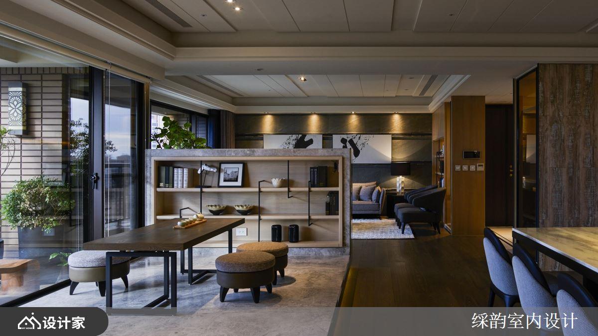入住豪华大宅!用石材+木质打造一室茶香