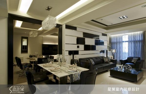 黑白配也超合拍!大玩材质混搭的亮丽现代宅