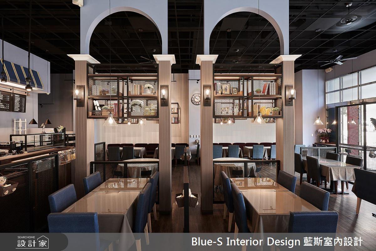 搭配着优雅欧风佐味,198平法式工业风餐厅