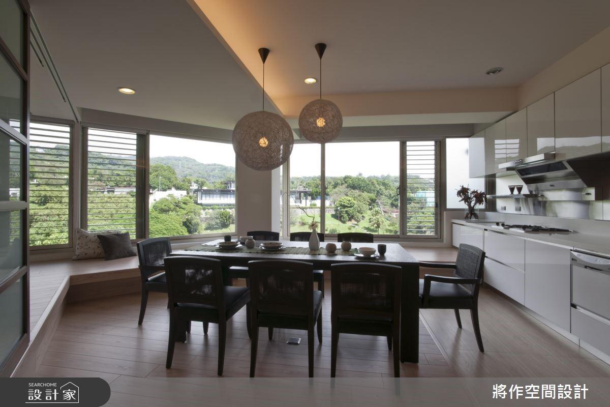有日式缘廊的家!坐拥270度绿景的扇形屋