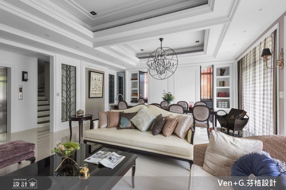 优雅纯白的气质典范,430平美式风大宅