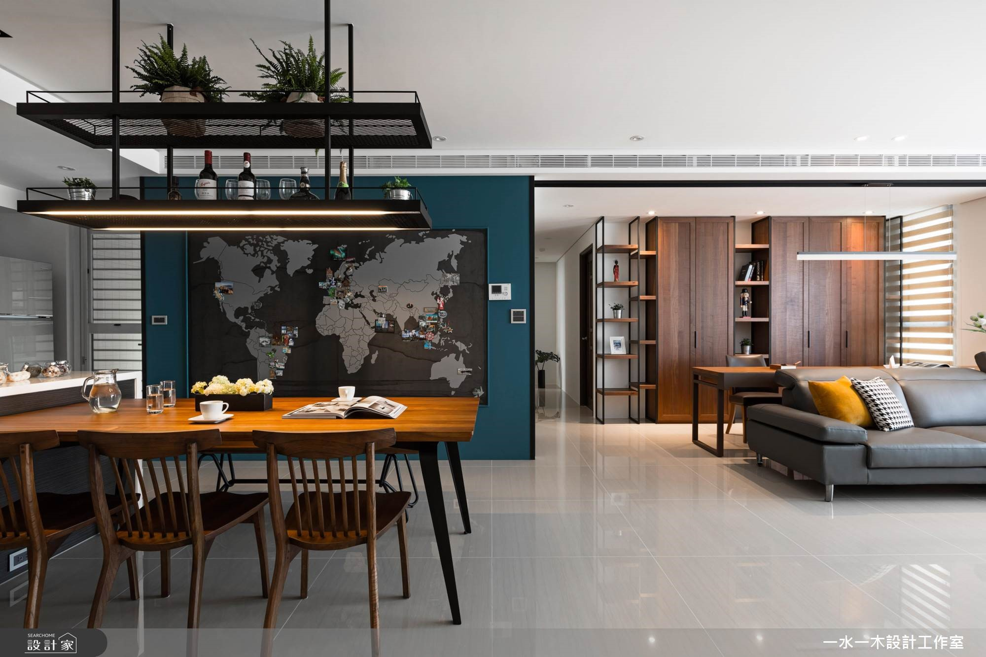 中岛厨房和风格收纳,造自然宅的纯净魅力