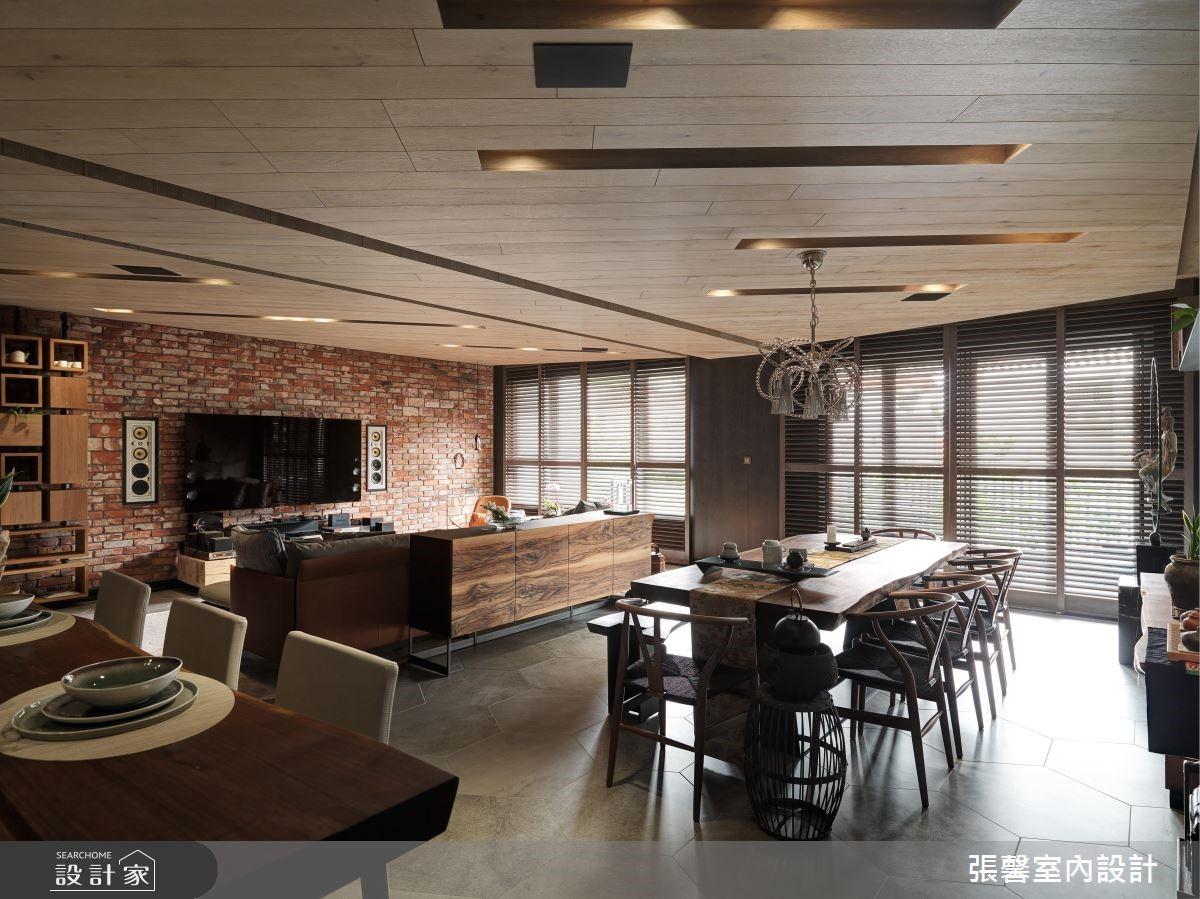 Loft工业风混搭日式禅风!用暖木红砖呈现个性家居