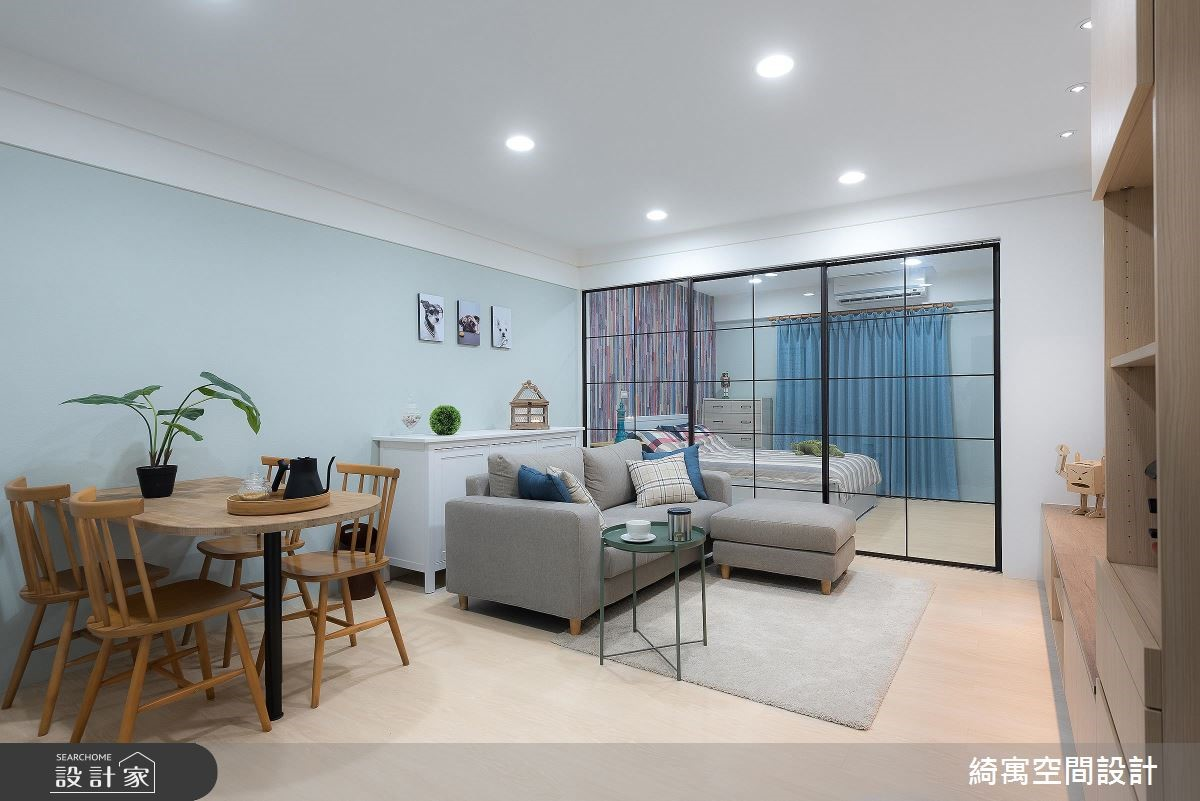 一次解决 3 大问题! 40 年老公寓化身少女般的50 平米清新宅