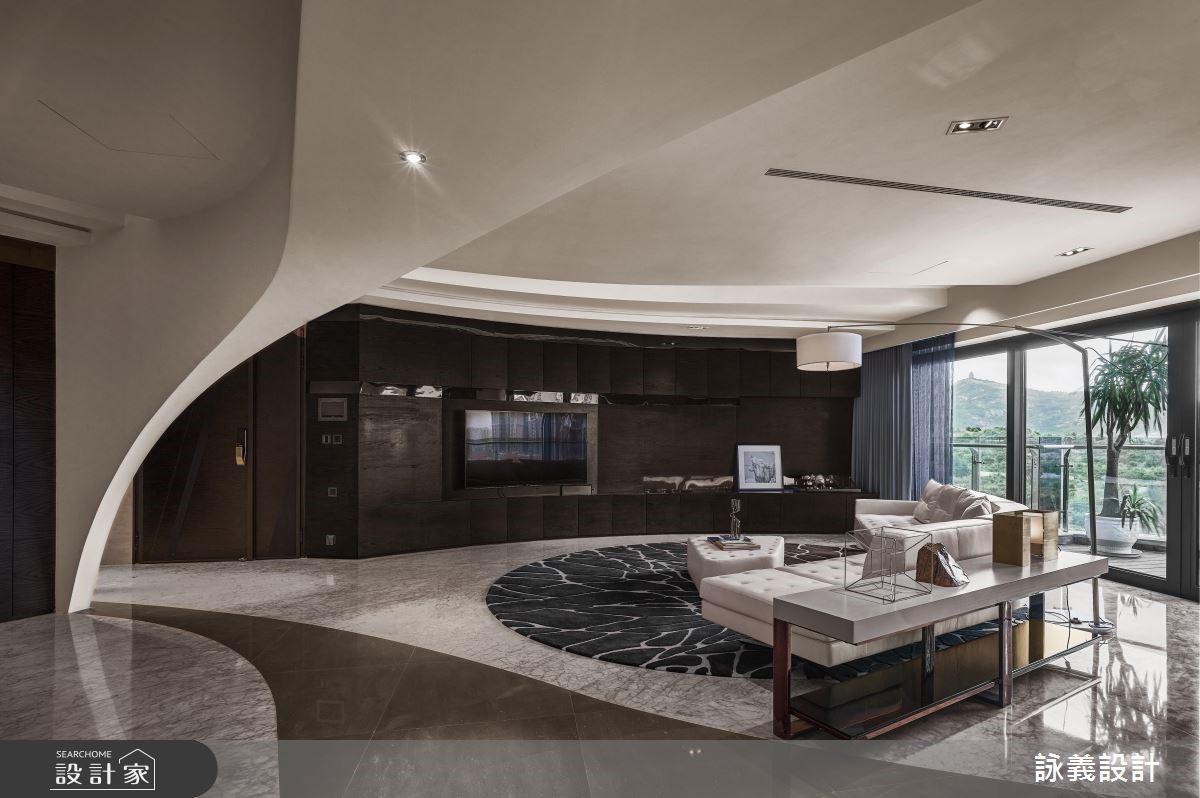圆弧线条舞动魔幻空间 大尺度与自然意象形塑时尚豪宅