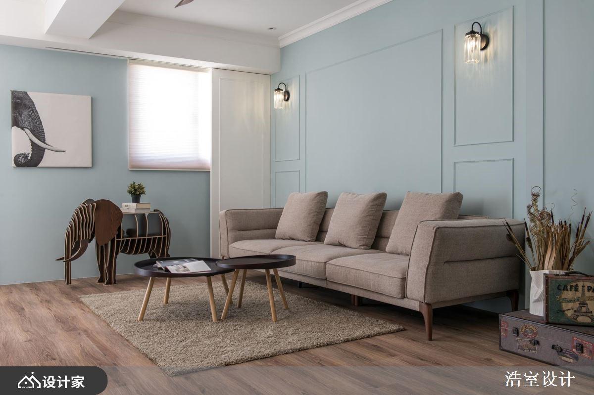 浪漫Tiffany蓝,体验生动的北欧风家屋