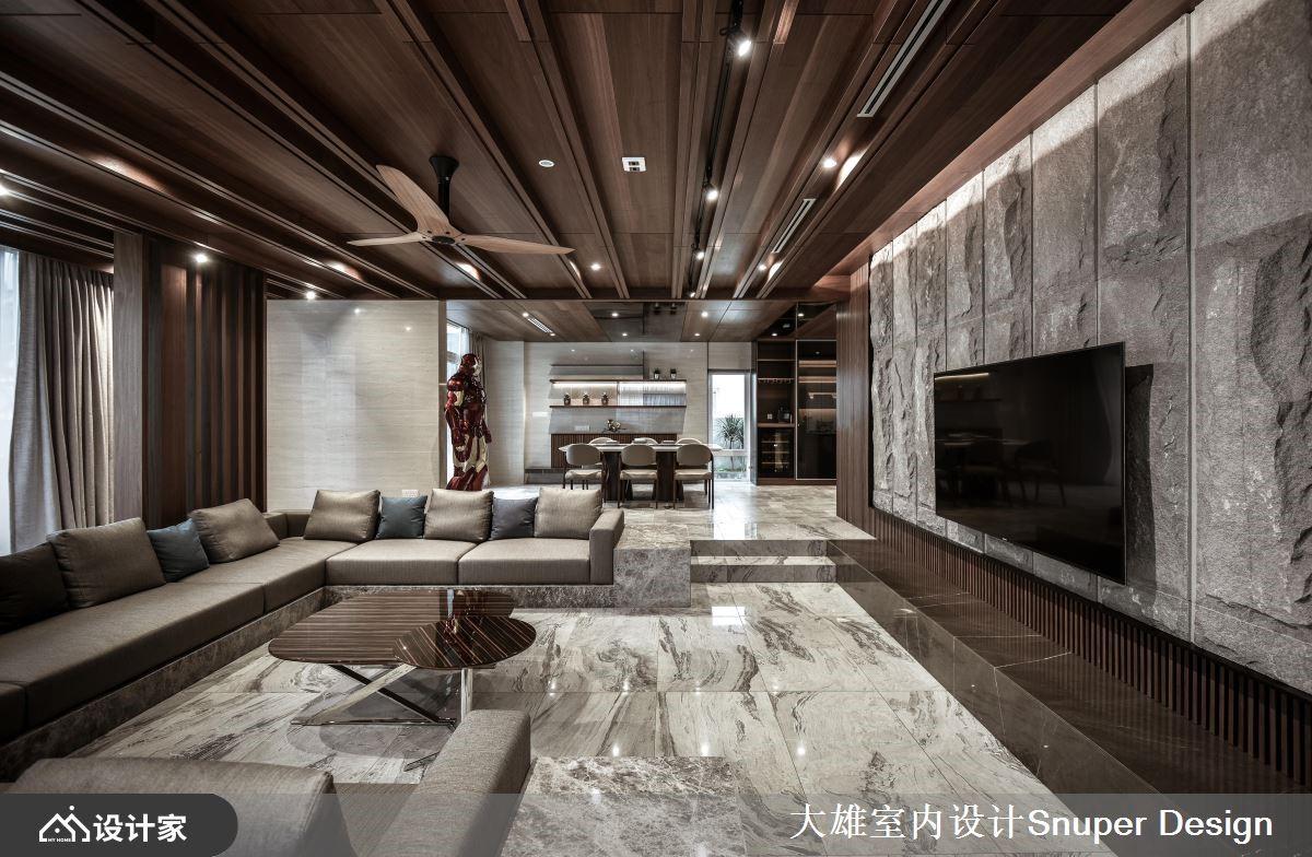 视觉尺度无限开阔 气度非凡的现代风豪邸