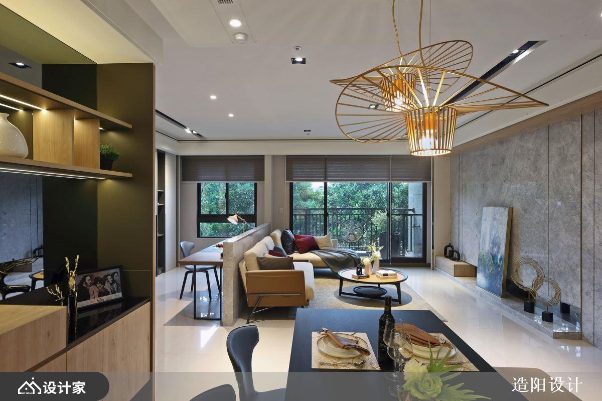 运用材质提升空间的精致度,量身订制三代同堂的精致人文风格家居