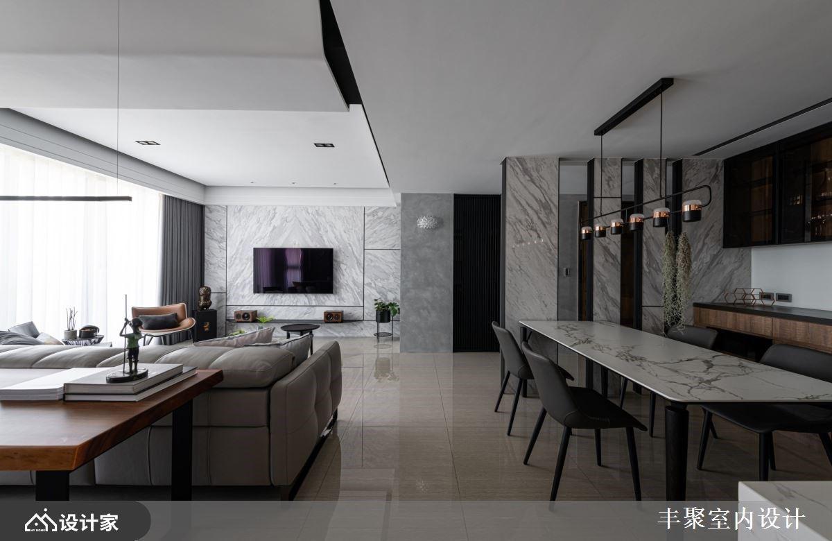 开放厨房+原木质感书房,营造简约时尚家屋气度