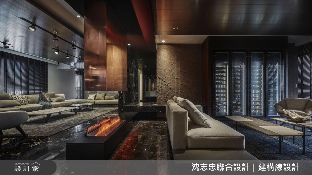 在台湾找回「国外故乡」的宽敞舒适,248 平米高端 Lounge 质感豪宅设计