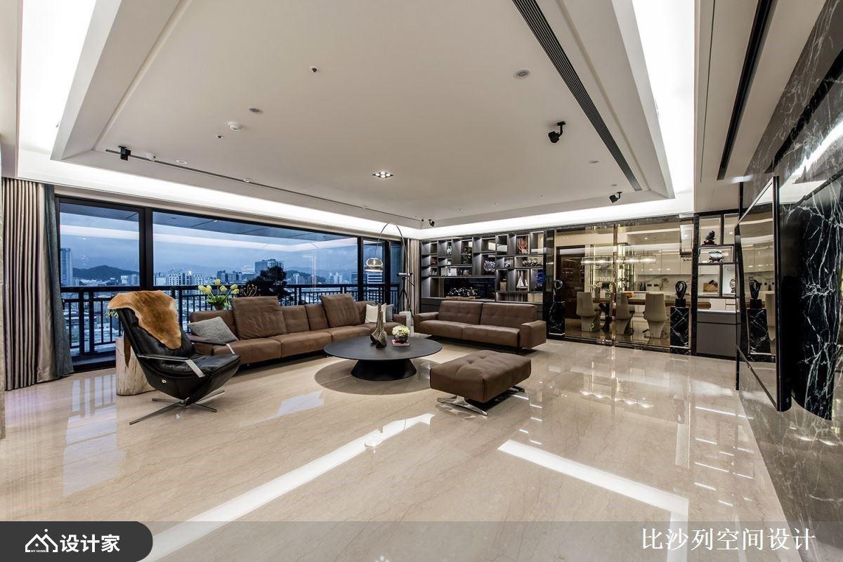 电视墙、景观窗的双重视角!奢华大户型展现不俗品味