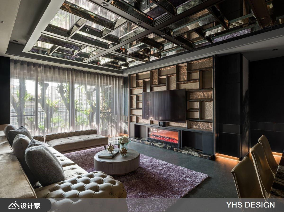 镜像天花下的极緻奢华!106 平米坐拥超越大宅的浮夸视觉飨宴