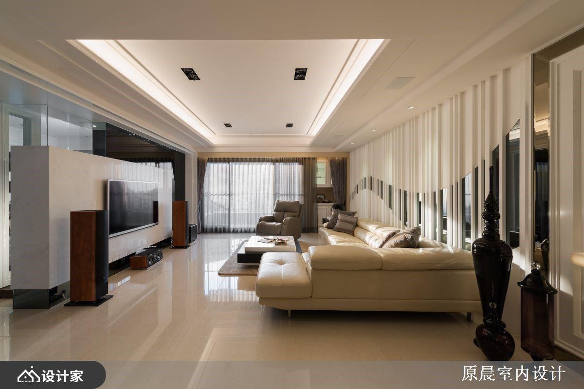 造型镜面 x 线板设计刻画 264 平米欧式古典宅邸的大气