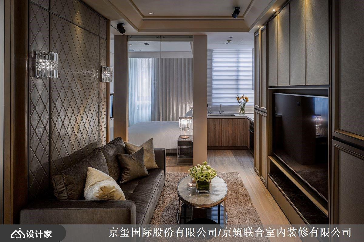 入住上海奢华风情!开放式设计刻画精品 56 平米小宅内的远中近景