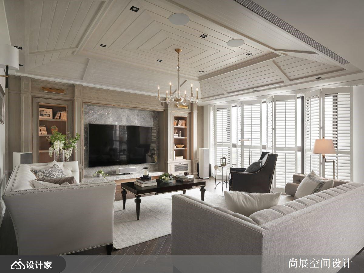 优雅白X木屋顶X经典家具!重现大师级美式风度假大户型