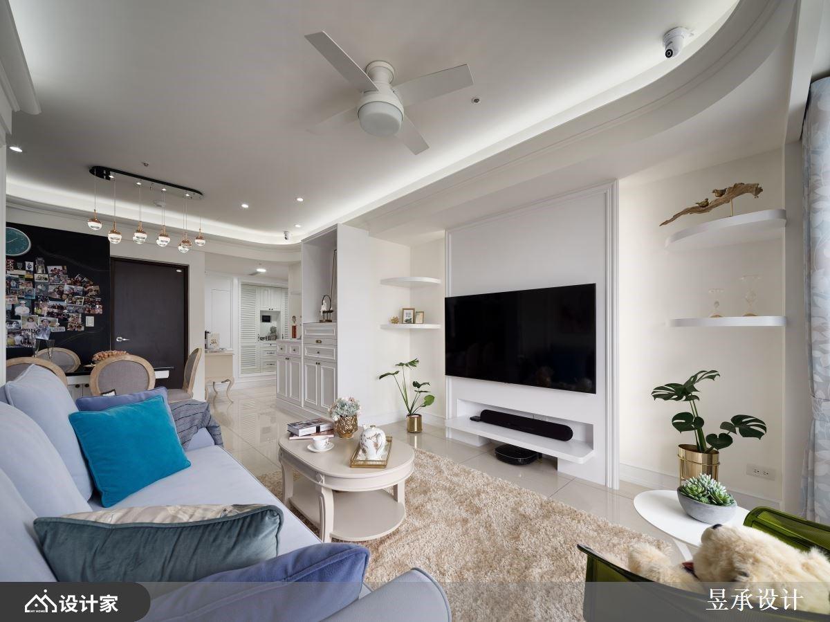 融入强大机能与收纳,坪效再进化的白色美式风全龄宅