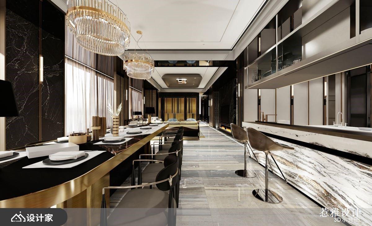 高端从玄关开始!欧美系奢华餐厅、爱马仕风格主卧,无一处不是优雅风景